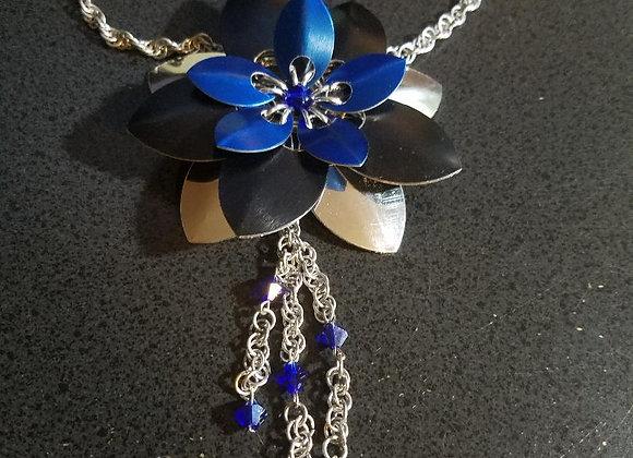 Spiral chain hair flower clip