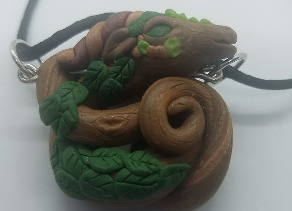 OOAK Forest Dragon Pendant