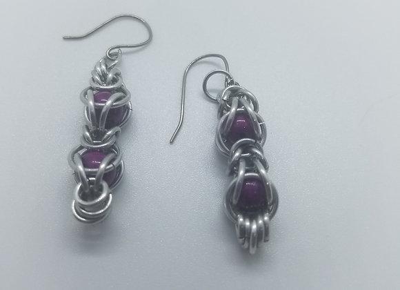 Beaded  Earrings and Matching Bracelet Set