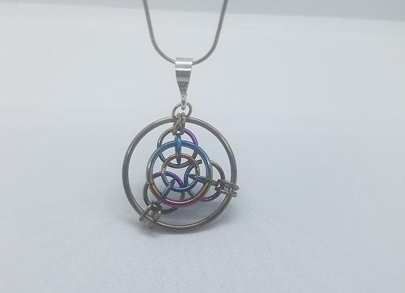 Bullseye  Pendant Necklace