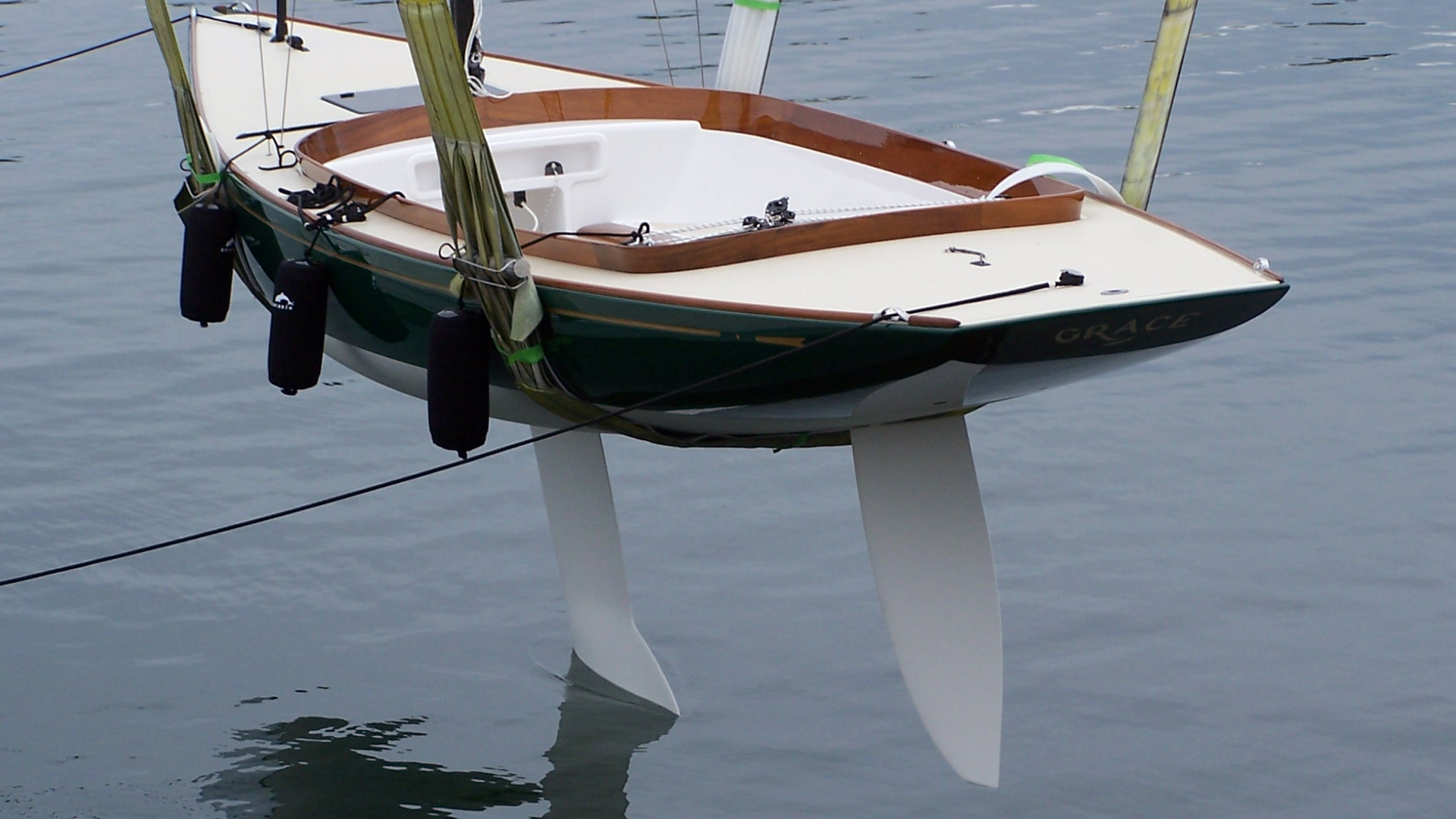 4' draft keel and carbon rudder.
