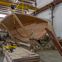 Overturning the hull bottom is a complex affair.