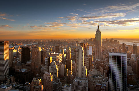 Zonsondergang over New York City