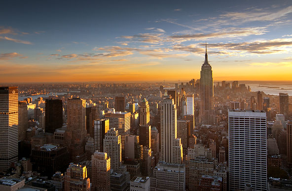 Usa, New York City, Empire State Building With Manhattan Skyline