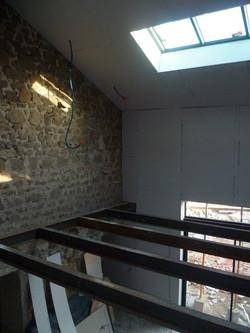 Création d'une mezzanine métallique