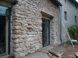 Re-construction de la façade