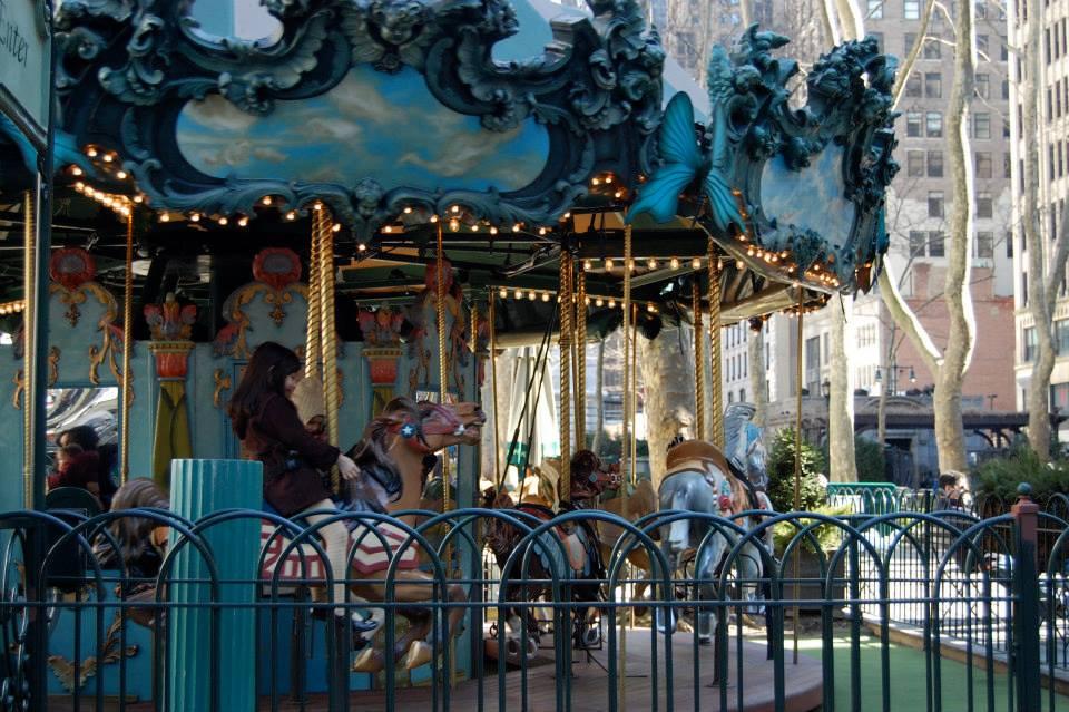 Antique carousel at Bryant Park.