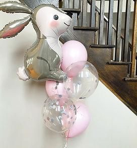 Foil Bunny Balloon Bouquet