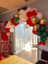 Christmas garland with chrome gold