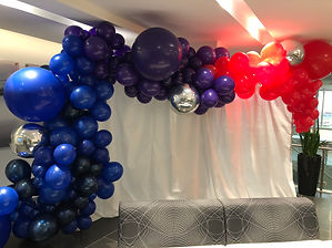 Corporate backdrop garland