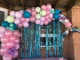 Mermaid tail balloon garland