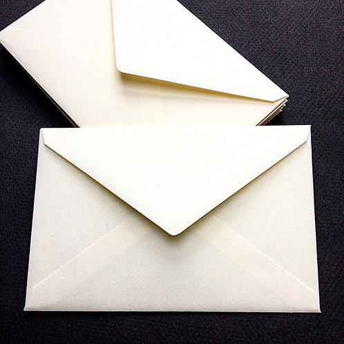 Rechthoekige enveloppe/omslag voor rouwkaart