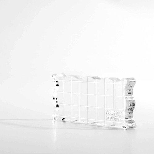 Acrylblokje voor stempel
