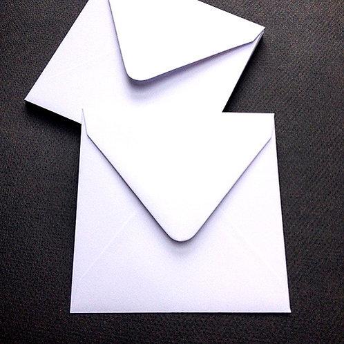 Vierkante enveloppe/omslag voor rouwkaart