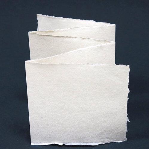 Khadi papier  210gr 7x7cm • 5 leporello's