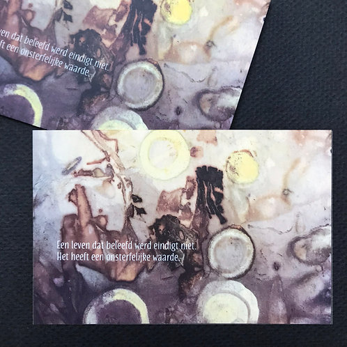 Een leven • rouwkaart