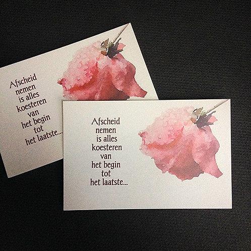 Roos • rouwkaart