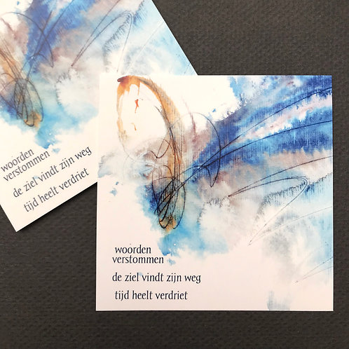 Woorden verstommen • rouwkaart