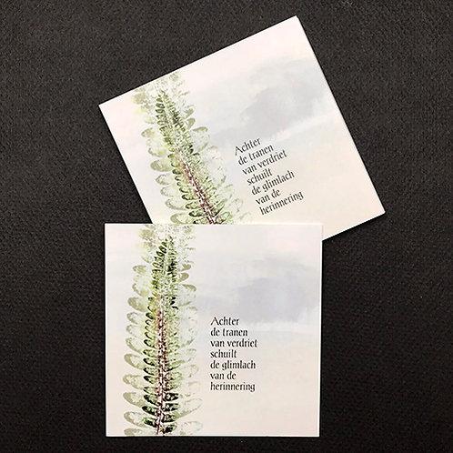 Varenblad • rouwkaart