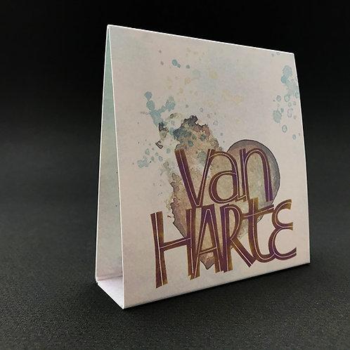 Tafelkaart Van harte