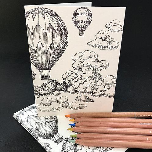 Luchtballon pakket 4 kaarten / 5 euro