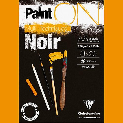 Clairefontaine 250gr A4 NOIR
