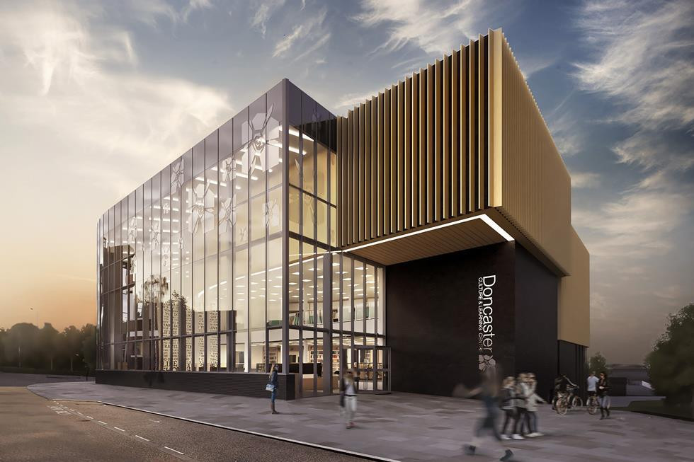 The council is building a modern new library and museum