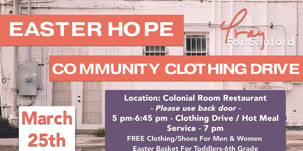 Easter Hope Community Clothing Drive