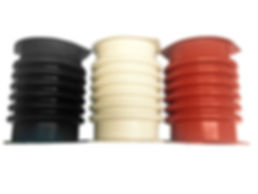 Black, White and Red Connector Boots for Sweco® type screeners