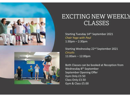 Exciting New Weekly Classes!