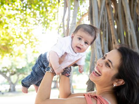 Baby's First Photoshoot at Ala Moana beach Park, Oahu, Hawaii