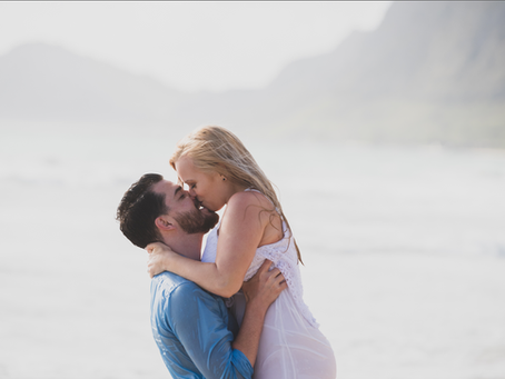 Carly and Mark- A steamy Couple's shoot in Waimanalo, Oahu, Hawaii