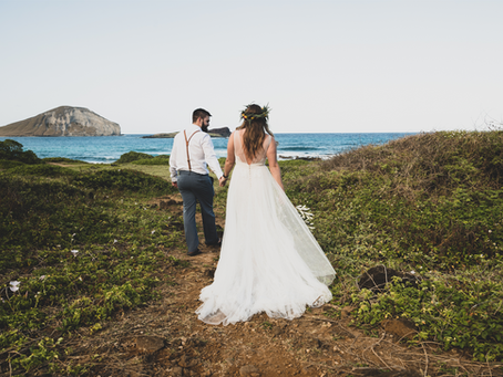 Destination Elopement at Makapuu Beach Park