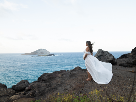 Family Maternity Session at Makapu'u Light House, Oahu, Hawaii