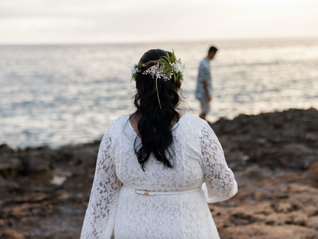 Wedding in Nanakuli, Oahu, Hawaii