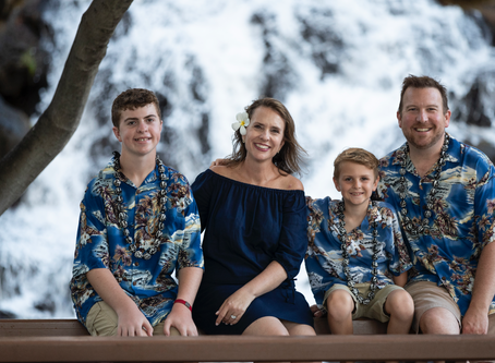 Family Photoshoot at Kahala Resort, Oahu, Hawai'i