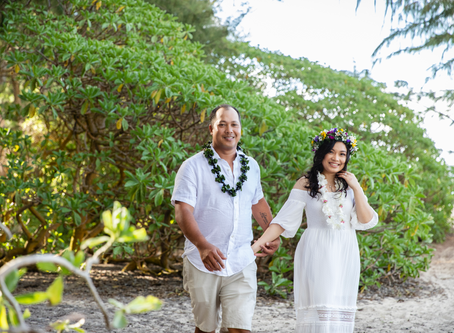 COVID19 Wedding Portraits at Sherwood Forest, Waimanalo, Oahu, Hawaii