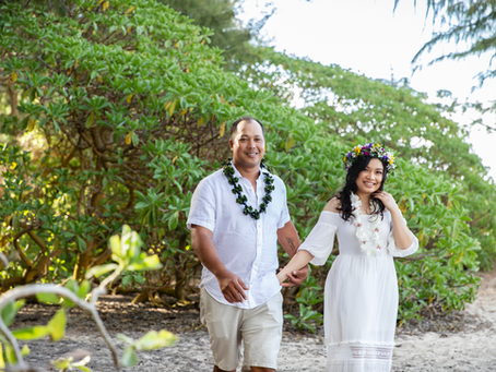 COVID19 Elopement at Sherwood Forest, Waimanalo, Oahu, Hawaii