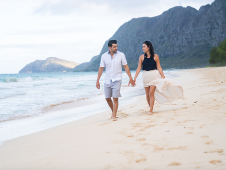 Couple's Photos at Sherwood Forest, Waimanalo Beach Park, Oahu, Hawaii