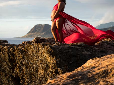 Maternity Shoot at Electric Beach, Oahu, Hawai'i
