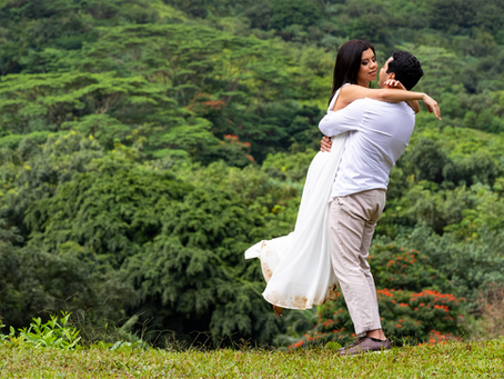 Wedding Portraits at Ho'omaluhia Botanical Garden, Oahu, Hawaii