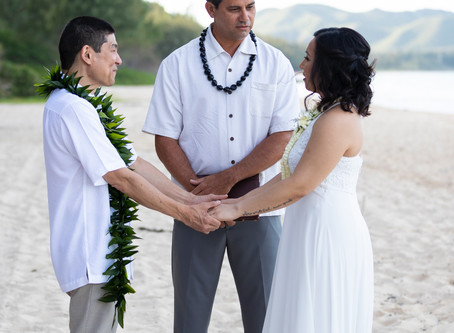 A perfectly intimate Waimanalo Wedding!