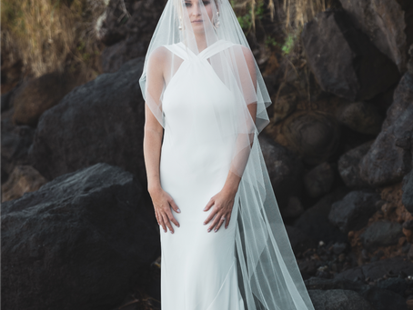 Kailua Beach Park bridal shoot on Oahu, Hawaii
