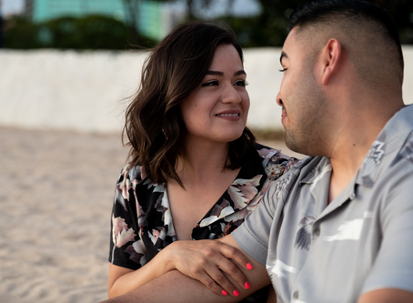 Surprise Proposal at Ala Moana Beach Park, Oahu, Hawaii