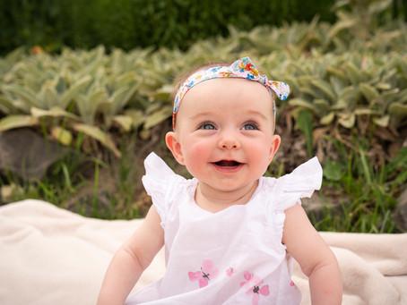 Baby Elli at Denver City Park, in Colorado