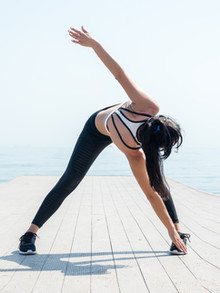 Woman Stretching