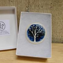 Blue Tree Brooch