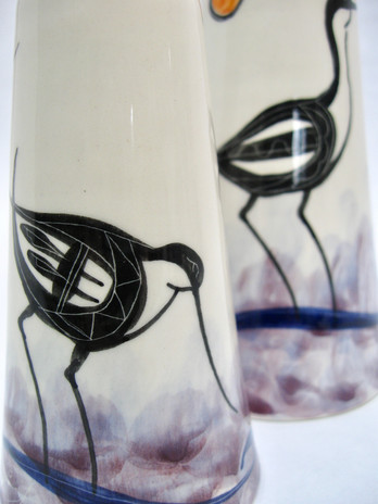 Avocet medium & small vases