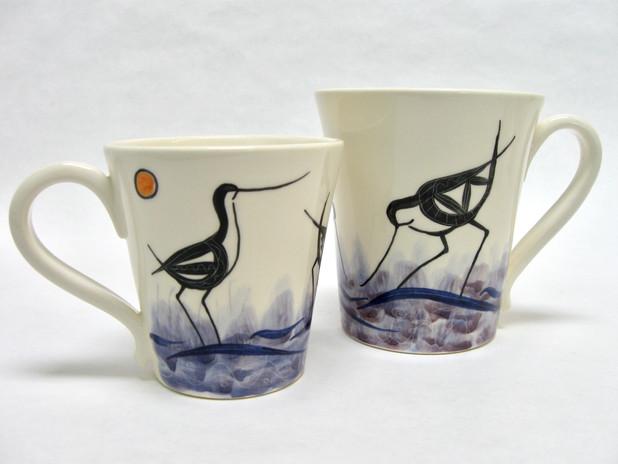 Avocet medium & small mugs