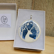 Blue Stag Necklace